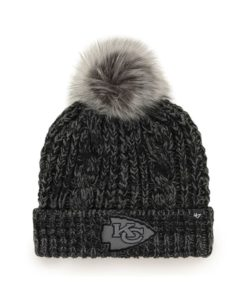 Kansas City Chiefs Women's 47 Brand Black Arctic Meeko Cuff Knit Hat