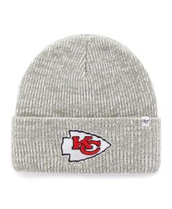 Kansas City Chiefs 47 Brand Gray Brain Freeze Cuff Knit Hat