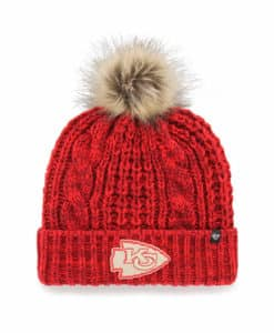 Kansas City Chiefs Women's 47 Brand Red Meeko Cuff Knit Hat
