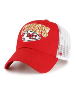 Kansas City Chiefs Women's 47 Brand Red Sparkaloosa Mesh Snapback Hat