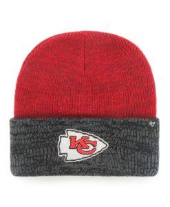 Kansas City Chiefs 47 Brand Red Two Tone Brain Freeze Cuff Knit Hat