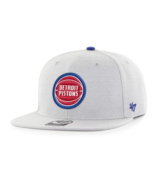 Detroit Pistons 47 Brand Gray Boreland Snapback Hat