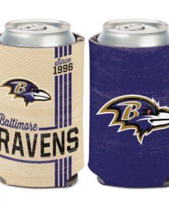 Baltimore Ravens 12 oz Purple Classic Vintage Can Cooler Holder
