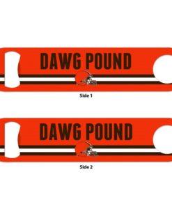 Cleveland Browns Orange Metal Bottle Opener 2-Sided