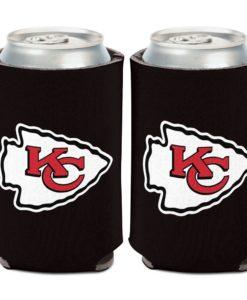 Kansas City Chiefs 12 oz Black Logo Can Cooler Holder
