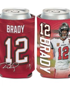 Tampa Bay Buccaneers Tom Brady 12 oz Red Can Cooler Holder