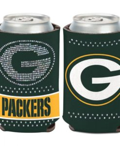 Green Bay Packers 12 oz Bling Green Can Cooler Holder