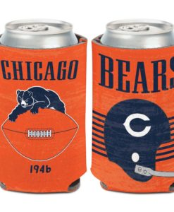 Chicago Bears Retro 12 oz Orange Can Cooler Holder