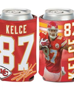 Kansas City Chiefs 12 oz Red Travis Kelce Can Cooler Holder