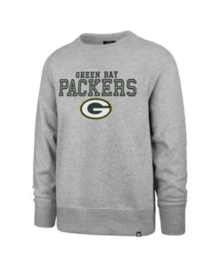 Green Bay Packers Men's Gray 47 Brand Crew Long Sleeve Pullover
