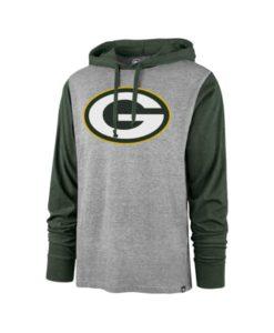 Green Bay Packers Men's 47 Brand Slate Gray Club Pullover Hoodie