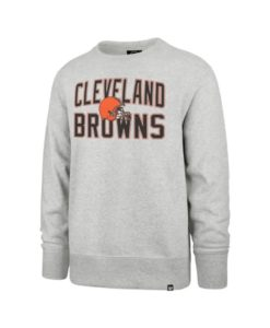 Cleveland Browns Men's 47 Brand Gray Crew Long Sleeve Pullover