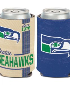 Seattle Seahawks 12 oz Blue Classic Vintage Can Cooler Holder