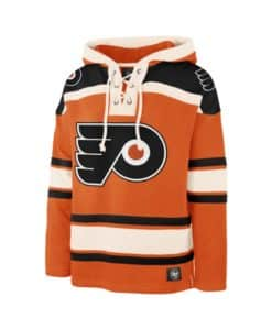 Philadelphia Flyers Men's 47 Brand Vintage Orange Pullover Jersey Hoodie