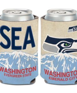 Seattle Seahawks 12 oz State Plate Can Cooler Holder