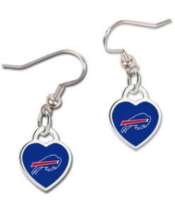 Buffalo Bills 3D Heart Dangle Earrings