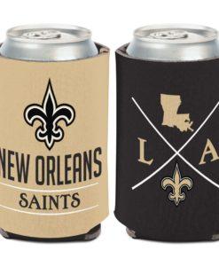 New Orleans Saints 12 oz Hipster Black Can Cooler Holder