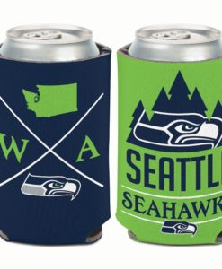 Seattle Seahawks 12 oz Hipster Navy Can Cooler Holder