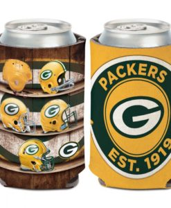 Green Bay Packers 12 oz Evolution Yellow Can Cooler Holder