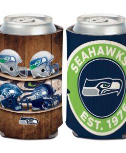 Seattle Seahawks 12 oz Evolution Navy Can Cooler Holder