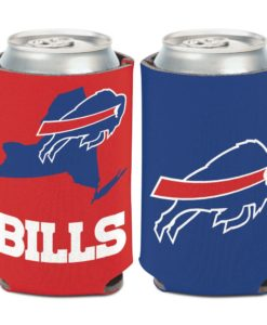 Buffalo Bills 12 oz State Blue Red Can Cooler Holder