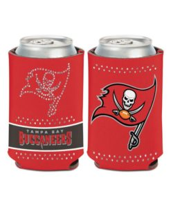 Tampa Bay Buccaneers 12 oz Bling Red Can Cooler Holder