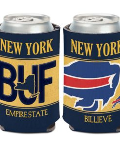 Buffalo Bills 12 oz State Plate Navy Can Cooler Holder
