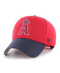 Los Angeles Angels 47 Brand Red Navy Basic MVP Adjustable Hat