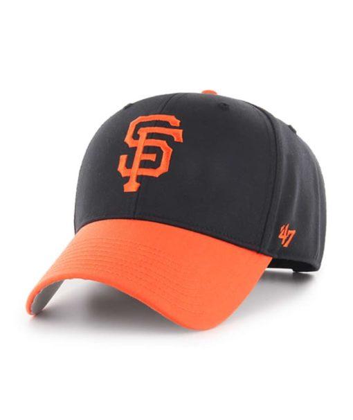 San Francisco Giants KIDS 47 Brand Black Orange MVP Adjustable Hat