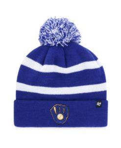 Milwaukee Brewers 47 Brand Blue Breakaway Cuff Knit Hat