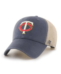 Minnesota Twins 47 Brand Vintage Navy MVP Mesh Adjustable Hat