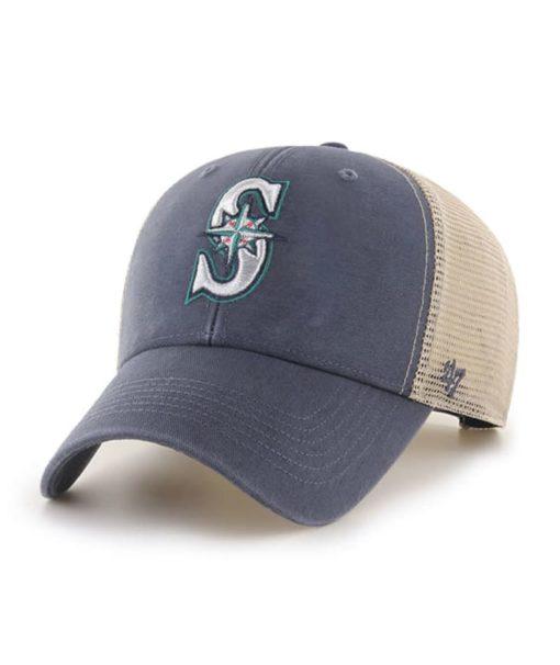 Seattle Mariners 47 Brand Vintage Navy MVP Mesh Adjustable Hat