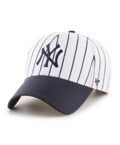 New York Yankees 47 Brand White Navy Pinstripe MVP Adjustable Hat