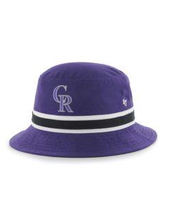 Colorado Rockies 47 Brand Purple Striped Bucket Hat