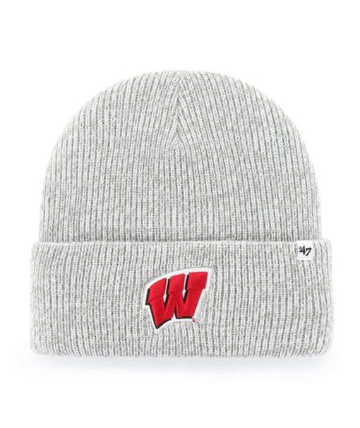 Wisconsin Badgers 47 Brand Gray Brain Freeze Cuff Knit Hat