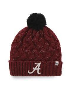 Alabama Crimson Tide Women's 47 Brand Razor Red Fiona Cuff Knit Hat