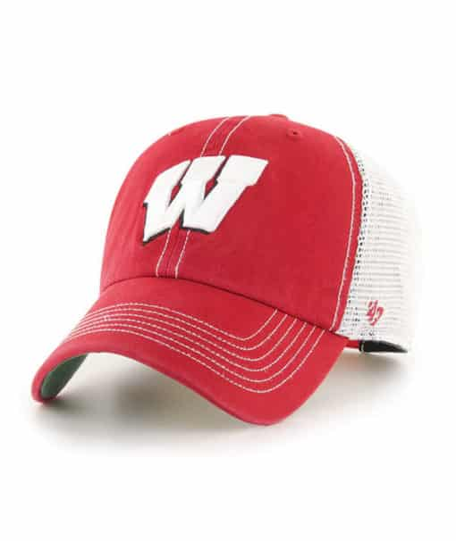 Wisconsin Badgers 47 Brand Red Trawler Clean Up Snapback Hat