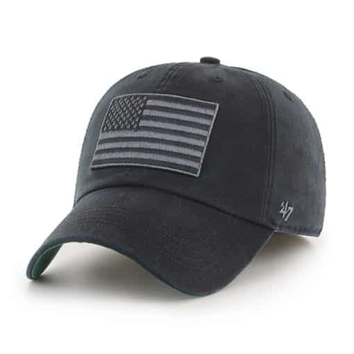 Operation Hat Trick 47 Brand USA Flag Black Franchise Fitted Hat