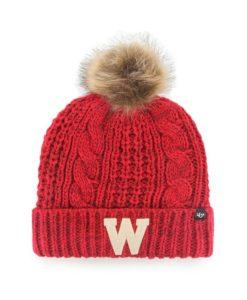 Wisconsin Badgers Women's 47 Brand Red Meeko Cuff Knit Hat