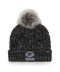 Green Bay Packers Women's 47 Brand Black Arctic Meeko Cuff Knit Hat