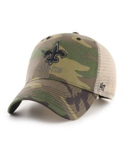 New Orleans Saints 47 Brand Camo Branson MVP Adjustable Hat