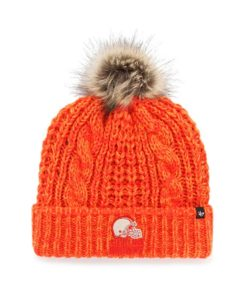 Cleveland Browns Women's 47 Brand Orange Meeko Cuff Knit Hat
