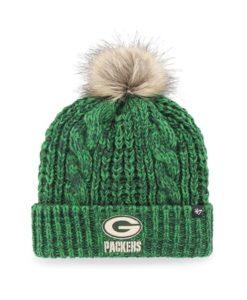 Green Bay Packers Women's 47 Brand Dark Green Meeko Cuff Knit Hat