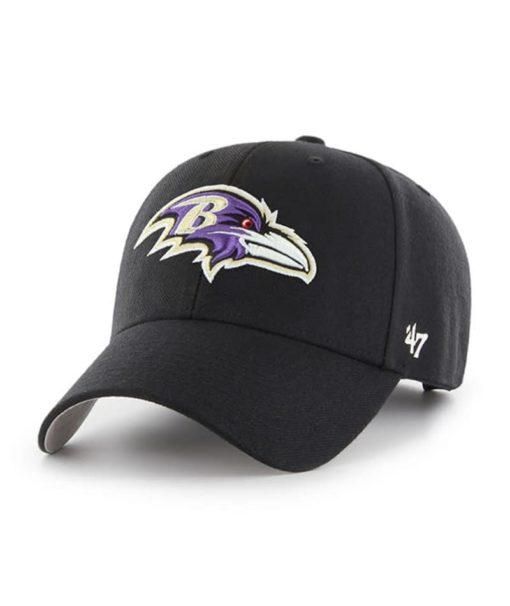 Baltimore Ravens 47 Brand Black MVP Adjustable Hat