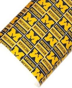Michigan Wolverines Gift Wrap Wrapping Paper Roll