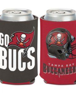Tampa Bay Buccaneers 12 oz Red Black Slogan Can Cooler Holder