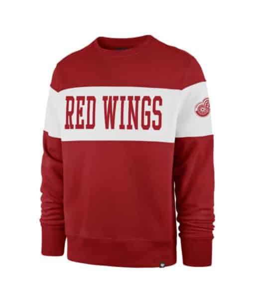 Detroit Red Wings Men's 47 Brand Red Crew Long Sleeve Pullover