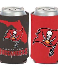 Tampa Bay Buccaneers 12 oz Florida Shape Red Can Cooler Holder