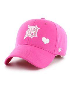 Detroit Tigers INFANT Baby Girls 47 Brand Sugar Pink Stretch Fit Hat