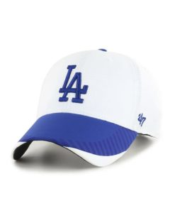 Los Angeles Dodgers 47 Brand White Blue Tantrum MVP Adjustable Hat